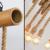 Candelabru Vintage din Sfoara cu Tub Bambus 1m pentru 6 becuri E27