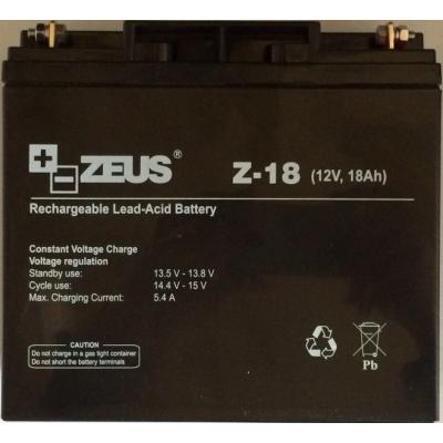 Acumulator 12V 18Ah cu Plumb Acid, Zeus