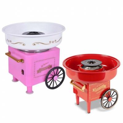 Aparat Vata de Zahar pe Bat Roz sau Rosu Cotton Candy Maker 450W