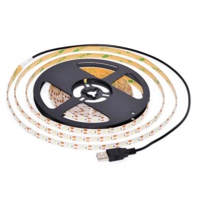 Banda 300 LED 2835 Alb Rece 5m Silicon IP65 Alimentare USB LED2835USB