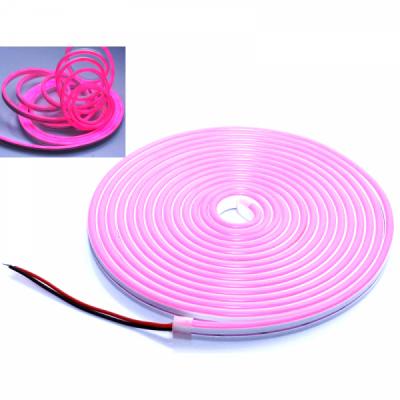 Banda LED Flexibil Neon Flex Decor 5m 12V Alim.Neinclusa Roz NFLPK2835