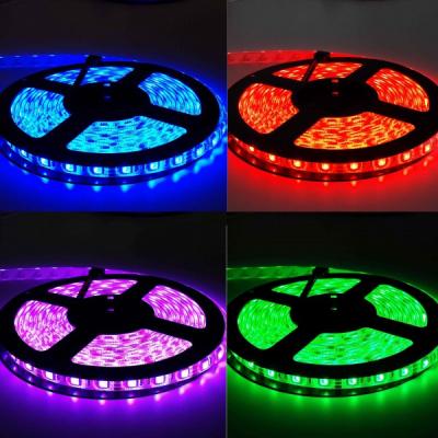 Banda LED Luminoasa 5m 300 LEDuri SMD 5050RGB cu Telecomanda JU