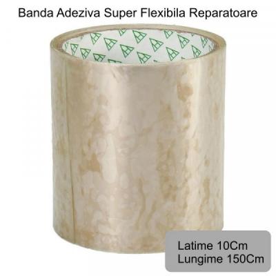 Banda Super Adeziva Reparatii Flex Tape Transparenta 10x150cm 10150T