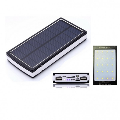 Baterie Externa Power Bank Solar cu UV Lanterna 20LED si USB