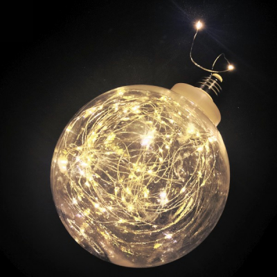 Bec Decoratiune Luminoasa Micro LED Alb Cald 15cm 220V