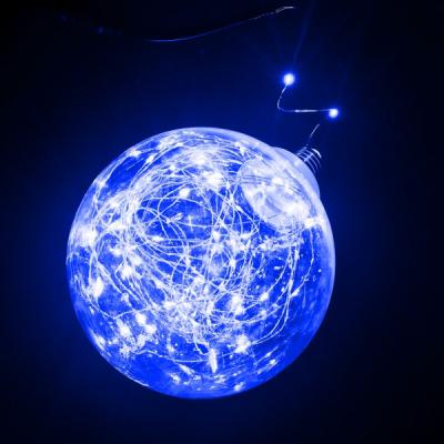 Bec Glob Decoratiune Luminoasa Micro LED Albastru 15cm 220V
