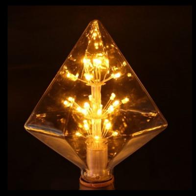 Bec LED Decorativ Edison Vintage 4W Alb Cald E27 Piramida 16x13cm