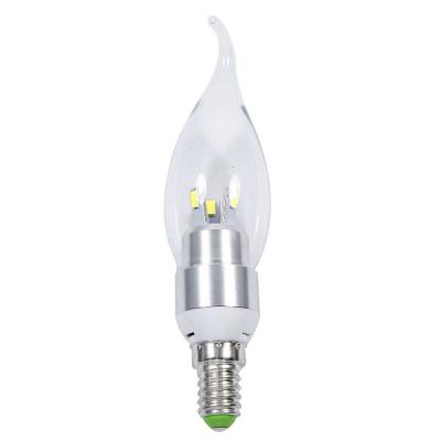 Bec Led Tip Lumanare 6 LED SMD 3W E14 Alb Rece