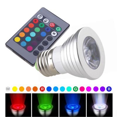 Bec LED Tip Spot 3W RGB cu Telecomanda Bec Soclu E27 220V