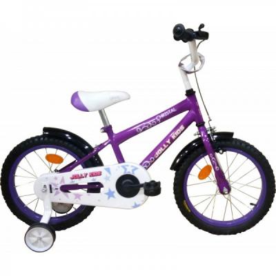 Bicicleta Copii 4-6 Ani, cu Roti Ajutatoare, Jolly Kids IBY16 BIC16 Mov