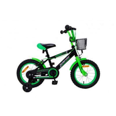 Bicicleta pentru Copii 12 Inch Splendor Negru cu Verde SPL12N