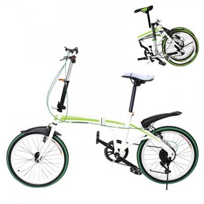 Bicicleta Pliabila cu Roti 20 Inch U8 Alb cu Verde
