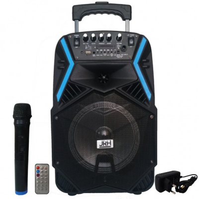 Boxa Portabila cu BT, FM, USB, SD, MIC si Telecomanda JRH A81