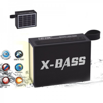 Boxa Portabila Solara si USB, Bluetooth LED USB TF X-BASS NSS50S