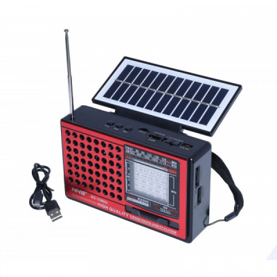 Boxa Portabila Solara si USB LED Radio USB SD Card NS1588U