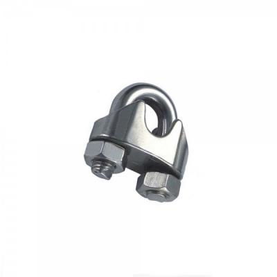 Set 100 Bride metalice cleme de prindere cablu otel 3mm