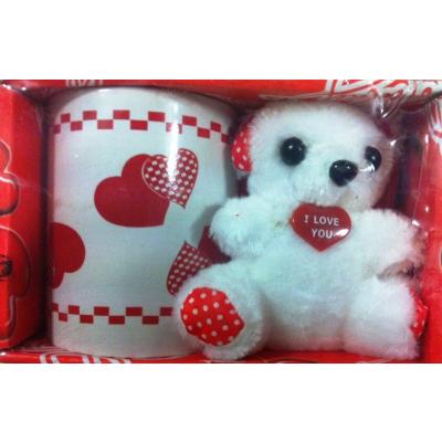 Cadou Valentine's Day set Cana si Ursulet de Plus M159