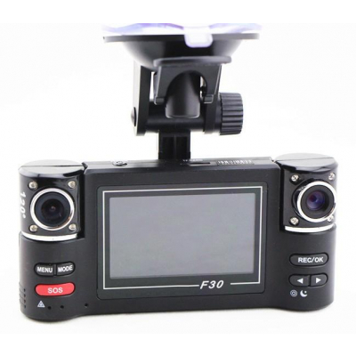 Camera Video AUTO Dubla cu Display Carway F30