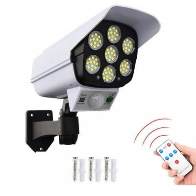 Camera Video Falsa cu Panou Solar Lampa 77 LED Senzori JD2178T