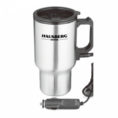 Cana Termos Travel Mug 450ml Auto 12V Hausberg HB1460