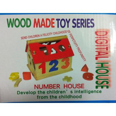 Casuta de Lemn tip lego cu Cifre Number House