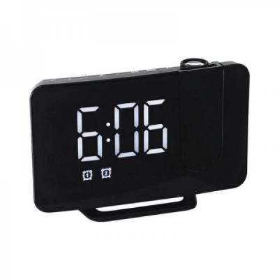 Ceas Digital cu Proiectie si Radio FM la USB 15x10x4.5cm GH0716