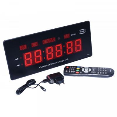 Ceas Electronic de Perete cu Cronometru Telecomanda 220V JH220RED