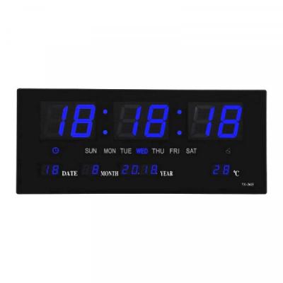 Ceas Electronic de Perete cu LED Afisaj Mare Albastru JH3615 220V