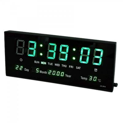 Ceas Electronic de Perete cu LED Afisaj Verde JH3615 220V