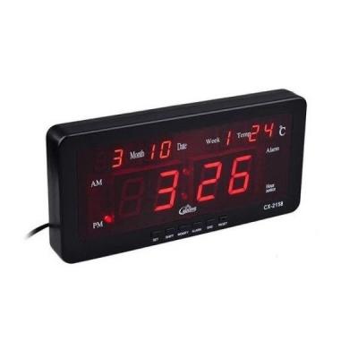 Ceas electronic digital cu LED de Perete sau Masa CX2158 12V 220V