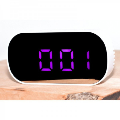 Ceas Oglinda Digital de Birou Afisaj LED la USB DT6506 Mov Intens