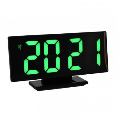 Ceas Oglinda Electronic la USB cu Alarma, LED Verde DS3618LG