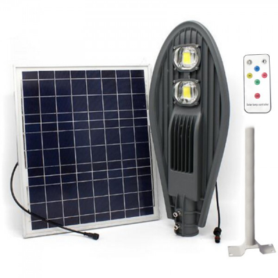 Corp Iluminat 100W 2xCOBLED 50W Solar Senzor, Suport, Telecomanda
