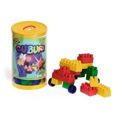 Cuburi Constructie pentru Copii Huby Toys 32 piese