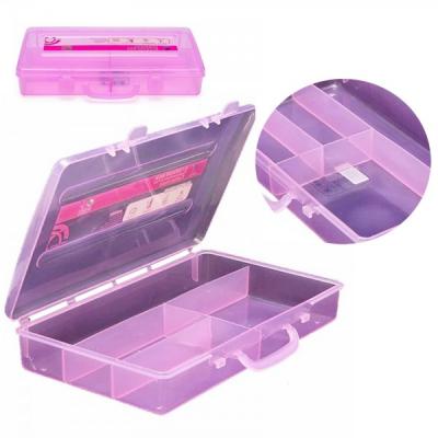 Cutie Depozitare din Plastic cu Capac 4 Compartimente ARL P125