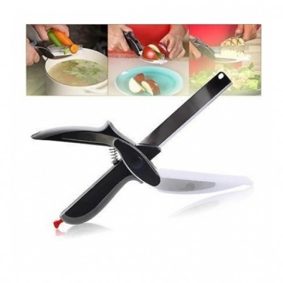 Cutit 2in1 tip Foarfeca Bucatarie Multifunctionala tip Magic Clever Cutter