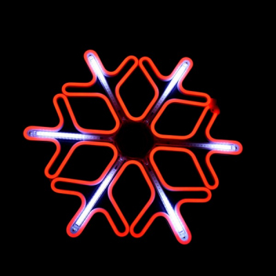 Decoratiune Neon LED Joc DIGITAL 2 Fete Fulg Nea 60x60cm Rosu