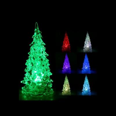Decoratiuni Craciun Bradut Luminos LED Multicolor Acril 10cm
