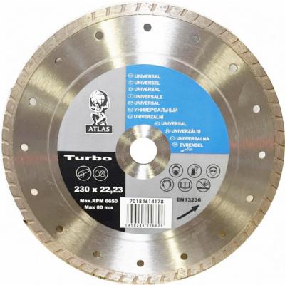 Disc debitat materiale constructie diamantat Atlas Turbo 230x22.23mm