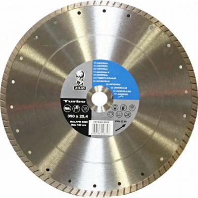 Disc debitat materiale constructie diamantat Atlas Turbo 350x25.40mm