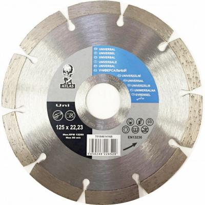 Disc debitat materiale constructie diamantat Atlas Universal 125x22.23mm
