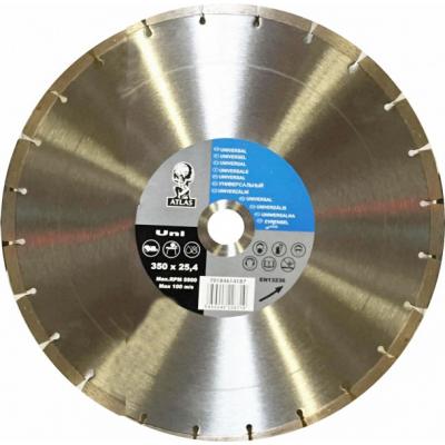 Disc debitat materiale constructie diamantat Atlas Universal 350x25.40mm