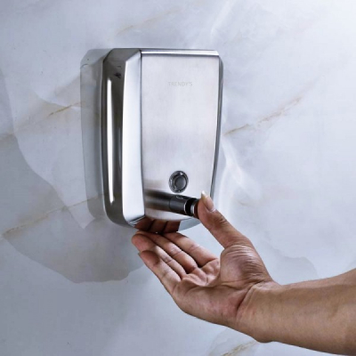 Dozator manual sapun lichid din otel inoxidabil 1000ml Trendy's DZ1000D