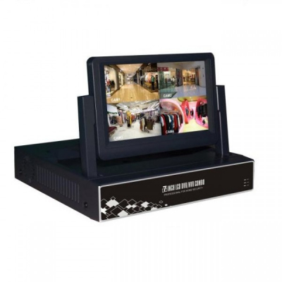 DVR 4 Canale CCTV cu LAN si Monitor LCD 7 Inch