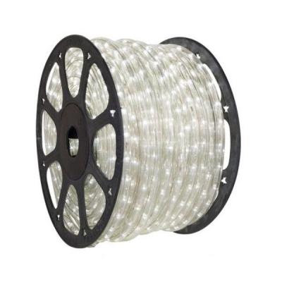 Furtun Luminos 100m 2300 LEDuri Alb Rece Cilindric 2Pini