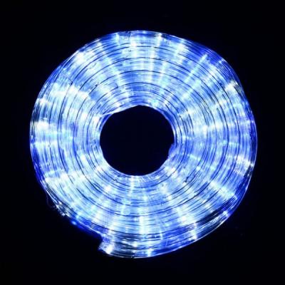 Furtun Luminos  de Craciun 100m 2300LED Albe si Albastre Cilindric 2Pini
