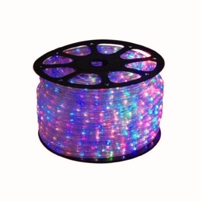Furtun Luminos de Craciun 100m 2300LED Multicolore Cilindric 2Pini