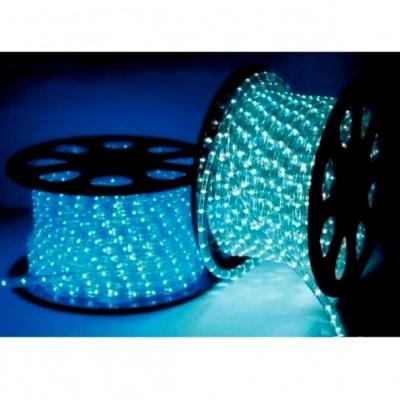 Furtun Luminos cu LED 100m Albastru Forma Cilindrica 2 Pini