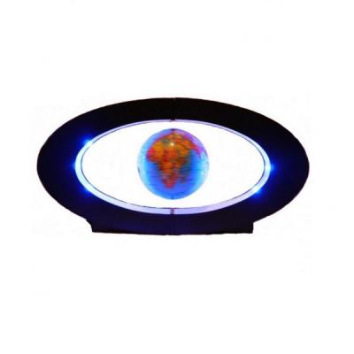 Glob Pamantesc 10cm ce Leviteaza pe Suport cu LED 40cm