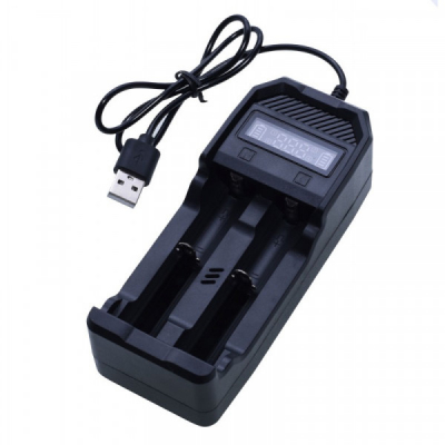 Incarcator Digital Doi Acumulatori Li-Ion 3.7V-4.2V la USB 2X307USB